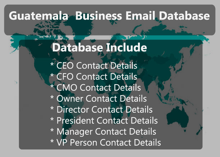 Guatemala Business Email Database