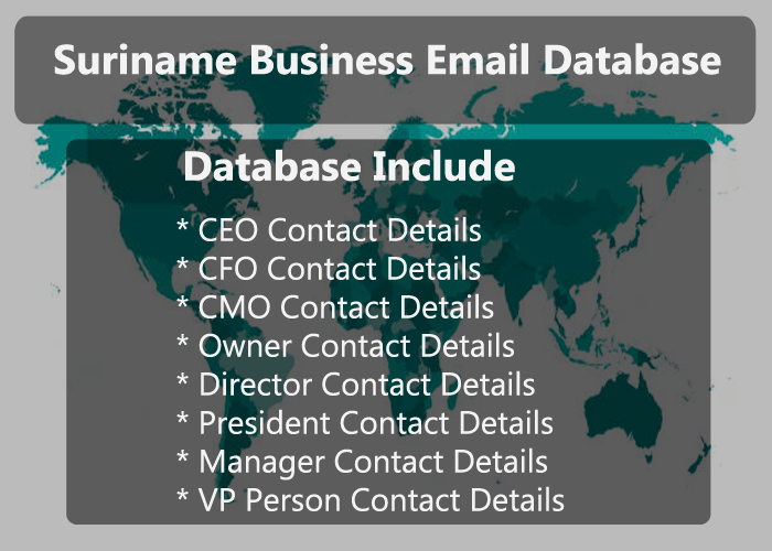 Suriname Business Email Database