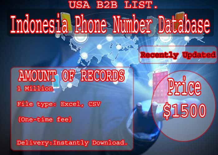 Indonesia Phone Number Database