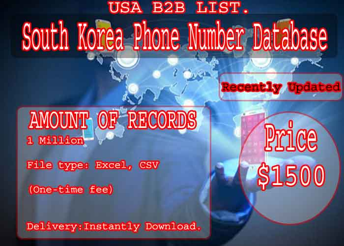 South Korea Phone Number Database