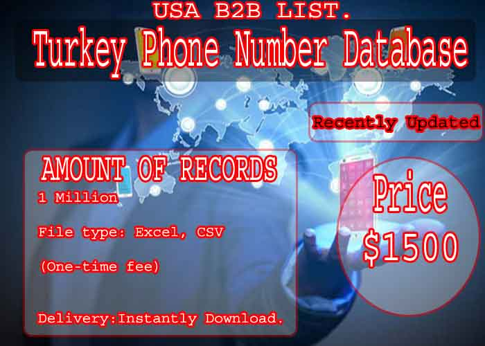 Turkey Phone Number Database